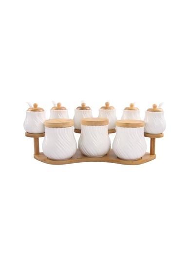 Acar Bambu Standlı 9'Lu Baharat Set Renkli